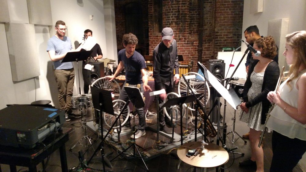 Now Hear Ensemble setup for Cycles in San Francisco, May 20, 2015.